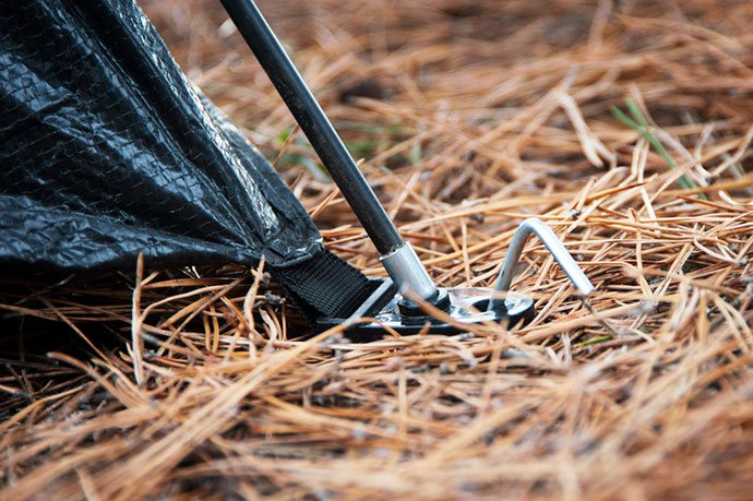 how to stake a tent in sand